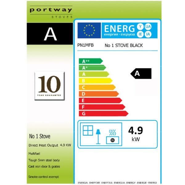 Portway 1 Contemporary Multifuel Stove High Leg