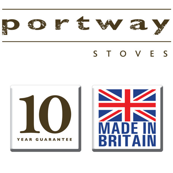 Portway 2 Glass Multifuel Stove Black
