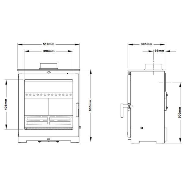 Flavel Arundel XL Stove Defra Approved