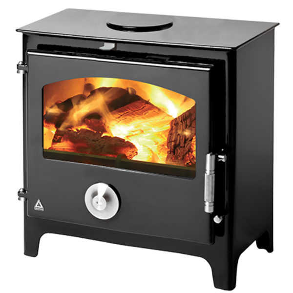 (Dropship) Red Stove Defra Approved Trianco Newton 5KW Claret Enamelled Small Red Hetas