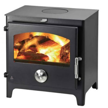 (Dropship) Defra Approved Stove Trianco Newton 5KW Painted Black Small Stove Hetas
