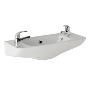 K Vit G4K 520mm Cloakroom Basin 1 or 2 Tap Hole