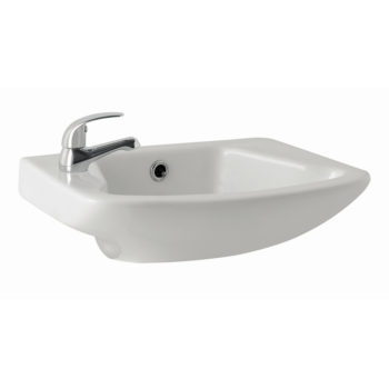 K Vit G4K 465mm Cloakroom Basin 1 or 2 Tap Hole