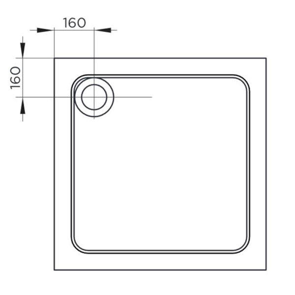 900 x 800 Low Profile Rectangle Shower Tray