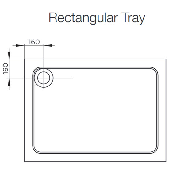 1100 x 900 Shower Tray 40mm Low Profile Rectangle MX
