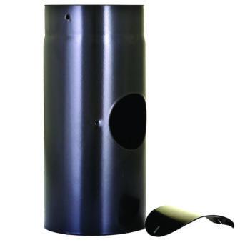 150mm Flue Pipe with Door Vitreous Enamel 330mm Long