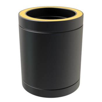 TWPro 150mm Twin Wall Insulated Pipe 250mm Black