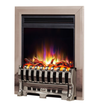 "Celsi Electriflame XD 16"" Insert Royale Silver Electric Fire"