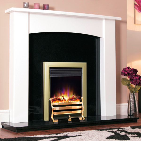 "Celsi Electriflame XD Daisy Brass 16"" Inset Electric Fire"