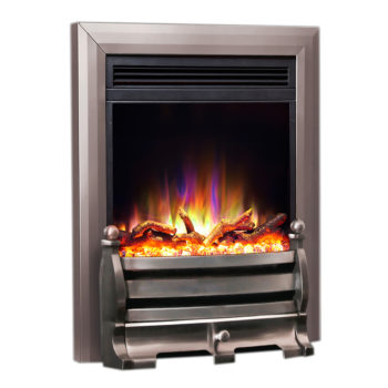 "Celsi Electriflame XD Daisy Satin Silver 16"" Inset Electric Fire"