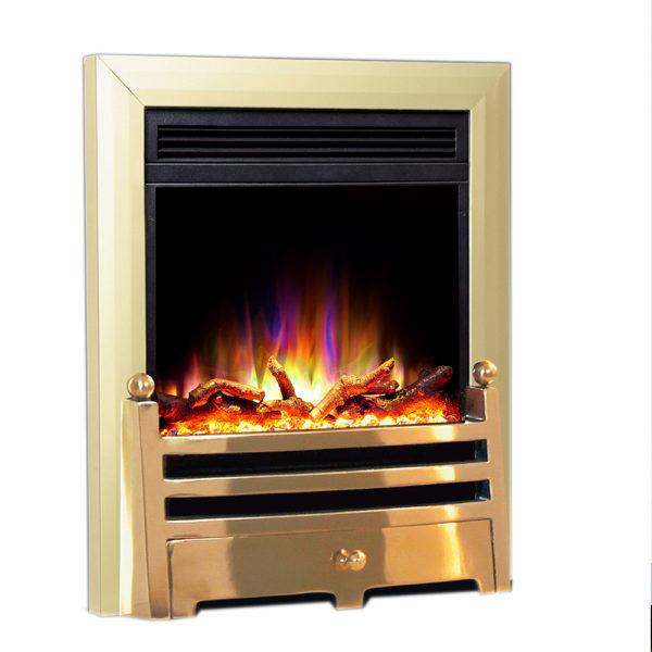 Celsi Electriflame XD Insert Bauhaus Brass Electric Fire
