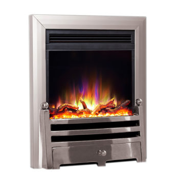 Celsi Electriflame XD Insert Bauhaus Satin Silver Electric Fire