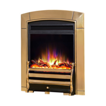"Celsi Electriflame XD Caress Daisy Brass 16"" Inset Electric Fire"