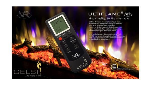 """Celsi Electriflame XD Caress Daisy Brass 16"""" Inset Electric Fire"""