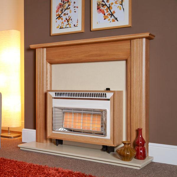 Flavel Misermatic Gas Fire Light Oak FORML0EN