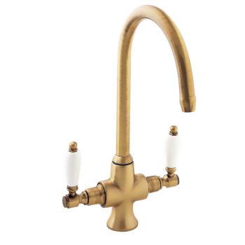 Deva Georgian Gold Mono Kitchen Sink Tap