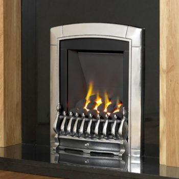 Flavel Caress Gas Fire Slimline Silver
