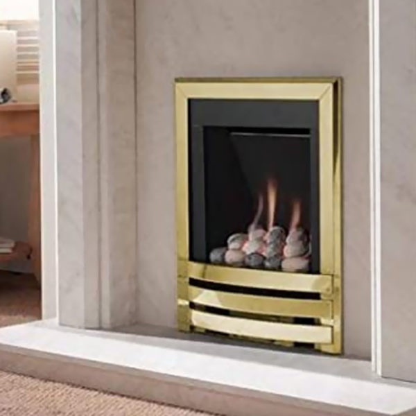 Flavel Windsor Gas Fire Contemporary Brass