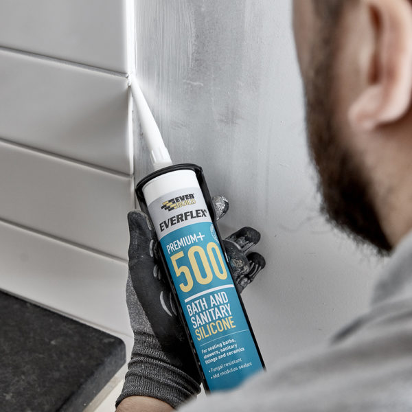 EverBuild Clear Silicone Sealant 500 Clear C3