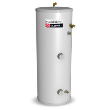 Gledhill Stainless lite Plus D250 Direct Unvented Cylinder Stainless Steel