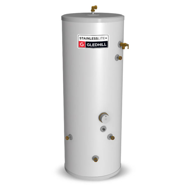 Gledhill Stainless lite Plus IND90 Indirect Unvented Cylinder Stainless Steel