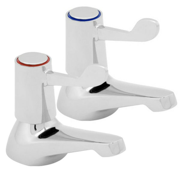 Deva DLT102 Chrome 3 Inch Lever Action Bath Taps