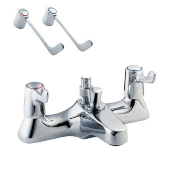 Deva DLV106 Lever Action Deck Mounted Bath Shower Mixer