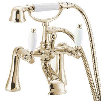 Deva GE03-501 Georgian Gold Lever Bath Shower Mixer