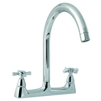 Deva Milan Deck Kitchen Sink Tap Chrome