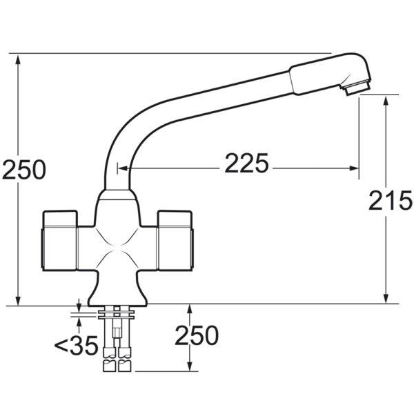 Deva SMS172-005 Sauris White Mono Sink Mixer