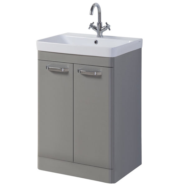 Options Vanity Unit 500mm Stone Grey