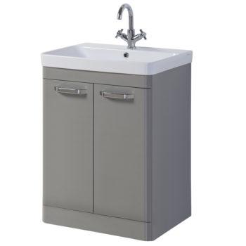 Options Vanity Unit 600mm Stone Grey