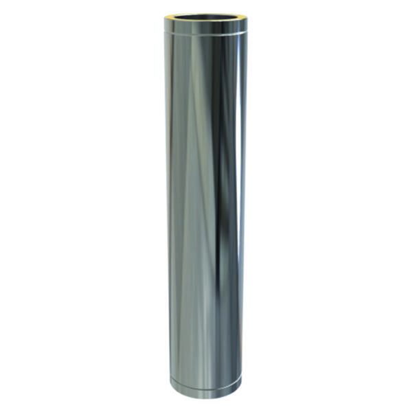 (Dropship) Twin Wall Insulated Pipe 1000mm - 125mm Stainless Steel