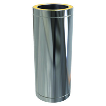 (Dropship) Twin Wall Insulated Pipe 500mm - 125mm Stainless Steel
