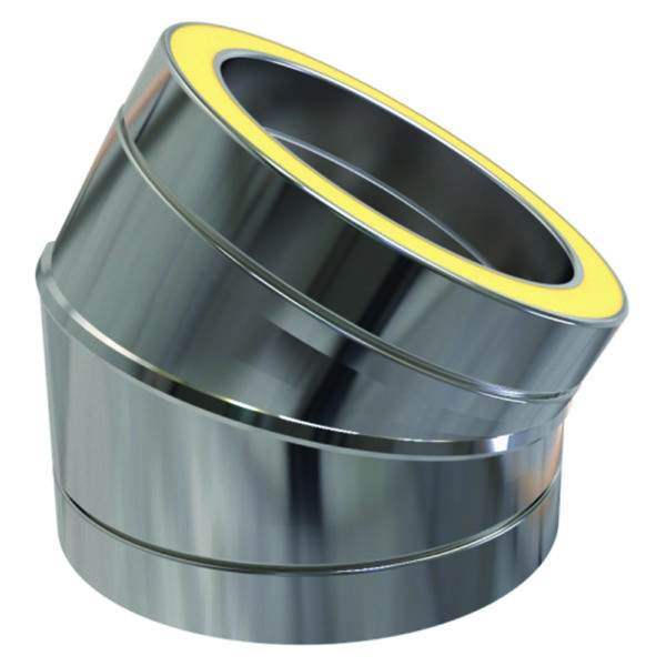 (Dropship) Twin Wall 30 Degree Bend 125mm Stainless Steel