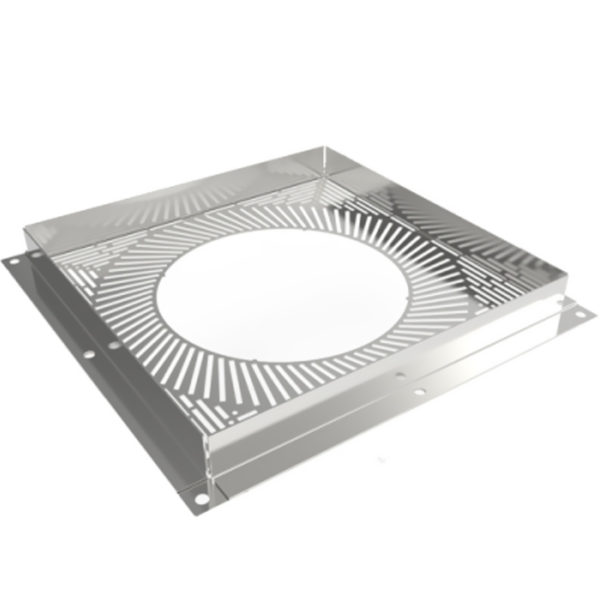 (Dropship) Ventilated Firestop Plate Finished in White 125mm