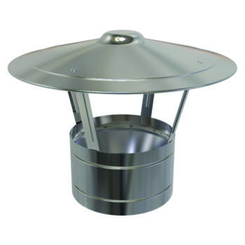 (Dropship) Rain Cap Stainless Steel 125mm