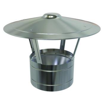 (Dropship) Rain Cap Stainless Steel 125mm