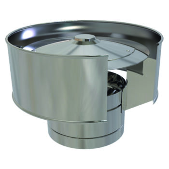 (Dropship) Anti-Wind Cowel Stainless Steel 125mm