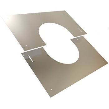 (Dropship) Finishing Plate Stainless Steel 30-45 Degree 125mm