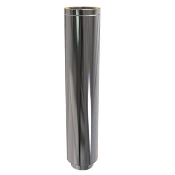 (Dropship) 800 to 1300mm Adjustable Pipe Twin Wall Flue Convesa Stainless Steel