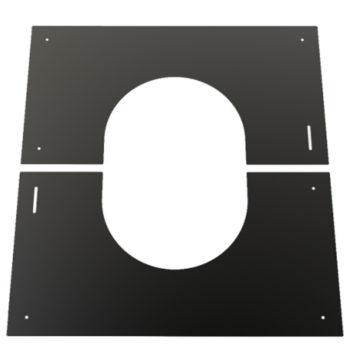 (Dropship) Finishing Plate Black 30-45 Degree 125mm