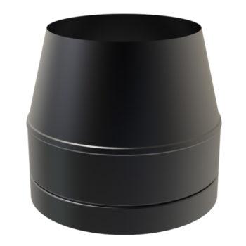 (Dropship) Cone Top Cowl Black 150mm