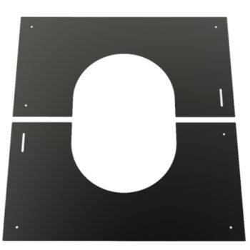 (Dropship) Finishing Plate Black 30-45 Degree 150mm
