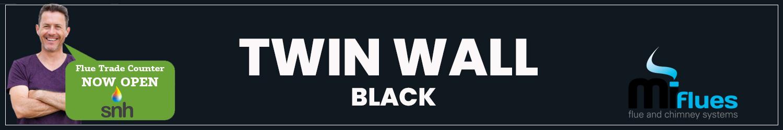 BLACK TWIN WALL FLUE