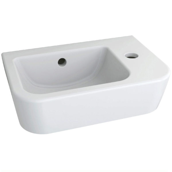 Imex Essence 370mm Right Hand Basin 1 Tap Hole