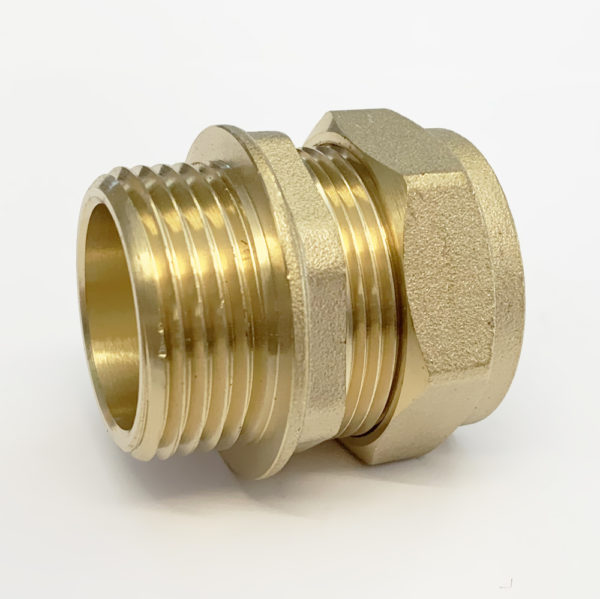 "15mm x 1/2"" Male Iron Straight Compression"