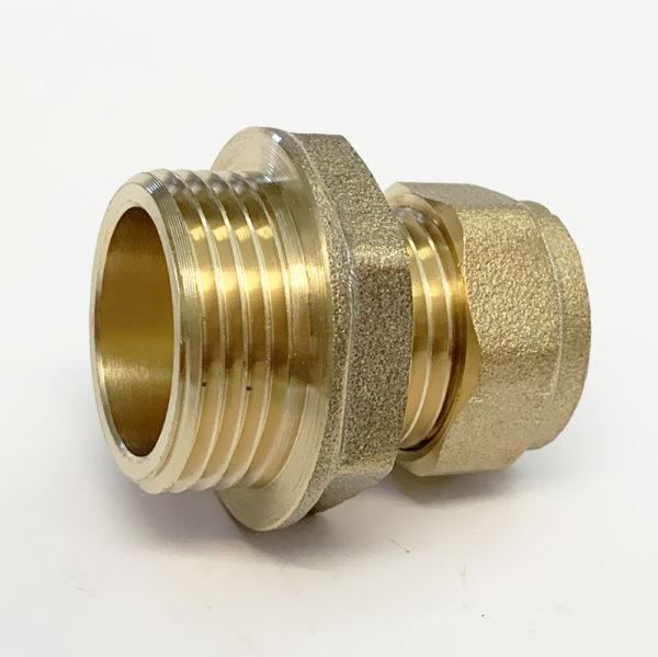 "15mm x 3/4"" Male Iron Straight Compression"