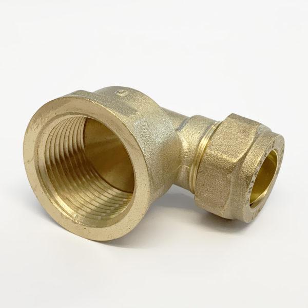 "15mm x 3/4"" Female Iron Bent Compression"