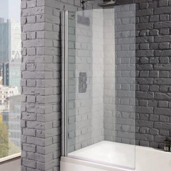 Aquadart Venturi 8 800 x 1400mm Hinged Bath Screen